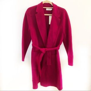 ALC Page Magenta Wool Wrap Coat Size 6 New $795